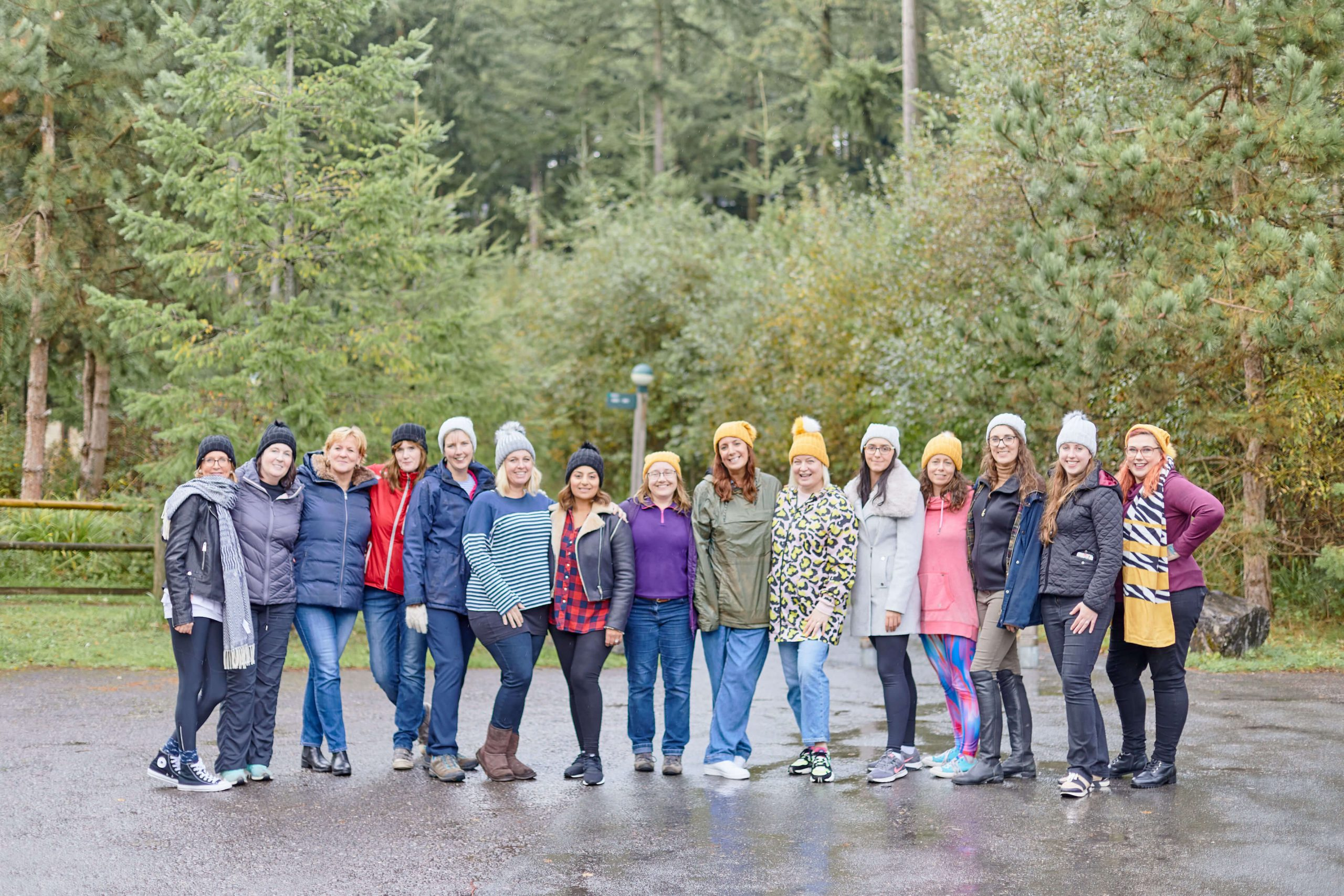 Female Business Mentors Walking in the Forest UK