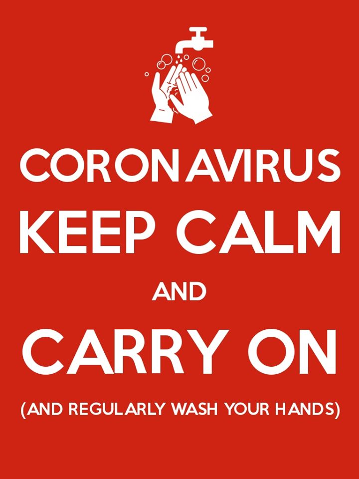 Keep calm and carry on coronavirus poster for recession proof businesses article